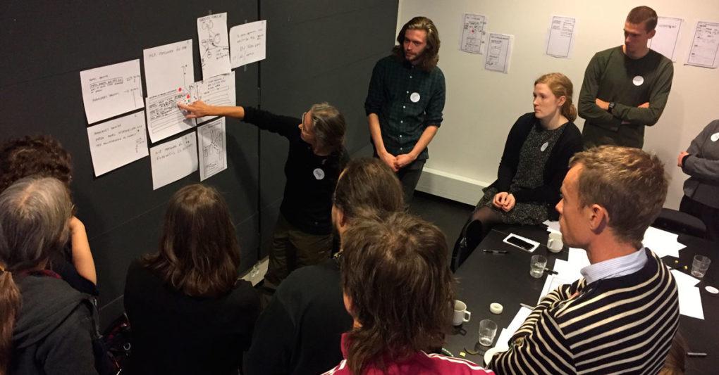 Stemningsbillede fra workshop om præsentation af livsforløb på web